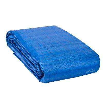 All Purpose Heavy Duty Blue Poly Tarp Cover 50 ft. x 50 ft, Water Resistant, Tarpaulin
