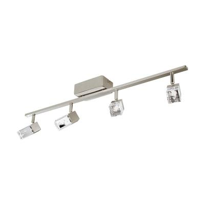 Cantil 33.19 in. Matte Nickel LED Track Lighting Kit with Clear Acrylic Shades