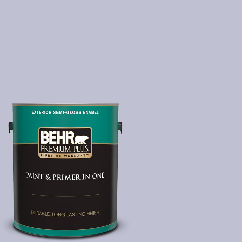 Behr Premium Plus 1 Gal S560 2 Lavender Honor Semi Gloss Enamel Exterior Paint And Primer In One 505001 The Home Depot