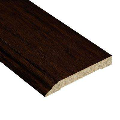 Strand Woven Walnut 1/2 in. Thick x 3-1/2 in. Wide x 94 in. Length Bamboo Wall Base Molding