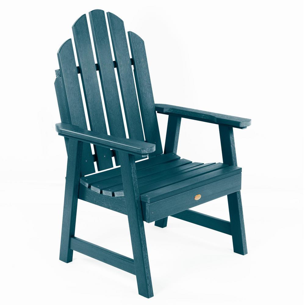Classic Westport Garden Nantucket Blue Stationary Plastic Outdoor Lounge Chair
