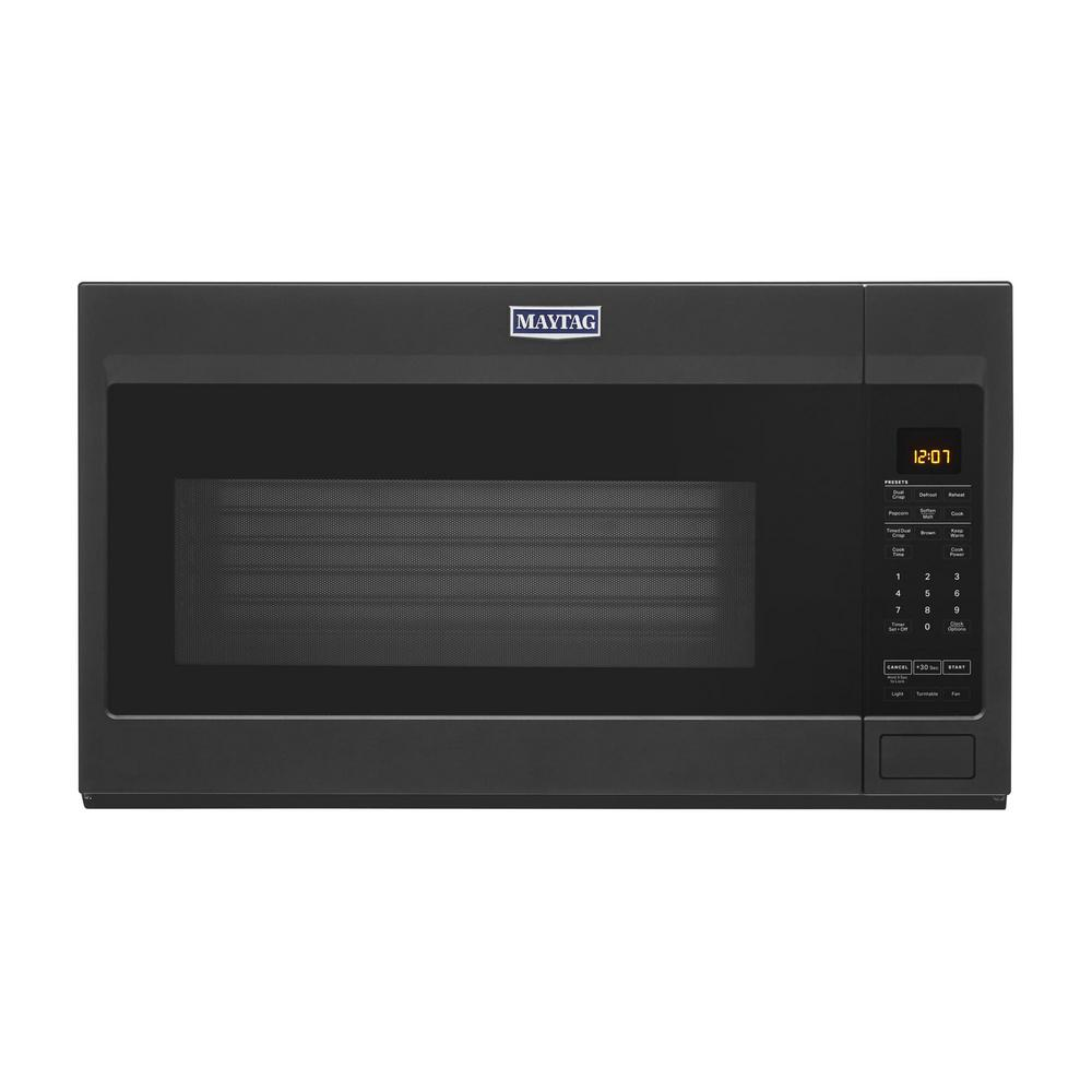 Maytag 1.9 cu. ft. Over the Range Microwave with Dual Crisp Function in Cast Iron Black