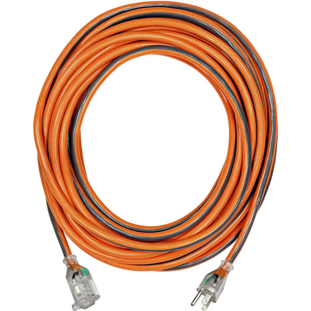 RIDGID 25 ft. 12/3 SJTW Extension Cord with Lighted Plug-757 ...