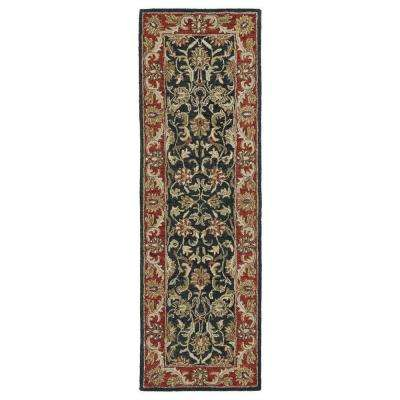 Solomon King David Graphite 3 ft. x 8 ft. Runner Rug