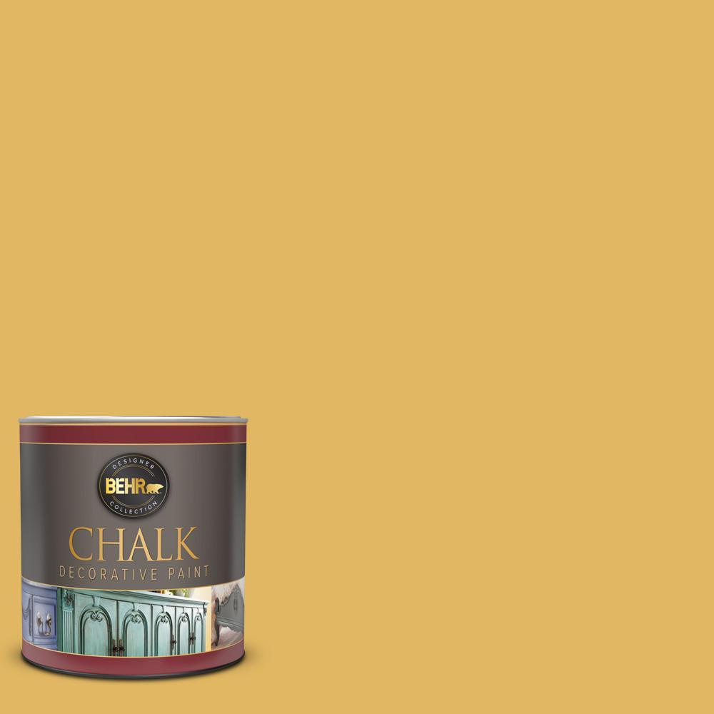 BEHR 1 qt. #BCP13 Vintage Mustard Interior Chalk Decorative Paint