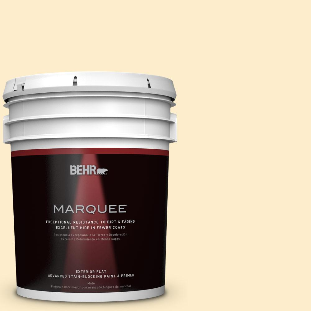 BEHR MARQUEE 5-gal. #P270-1 Honey Infusion Flat Exterior Paint