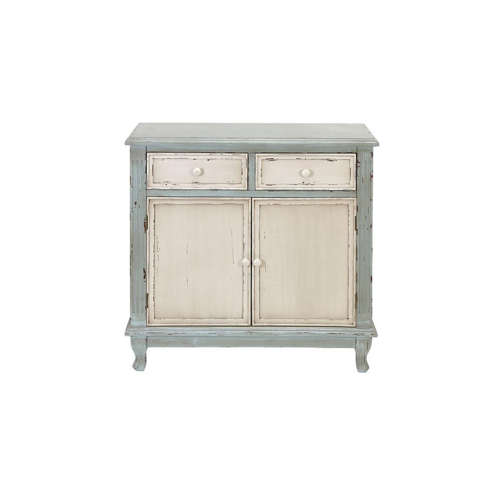 Sage Green Organic Wooden Cabinet