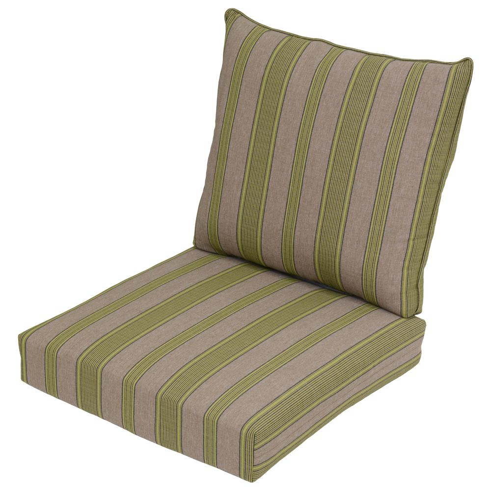 Luxe Stripe 2-Piece Deep Seating Outdoor Lounge Chair Cushion