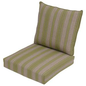 Luxe Stripe 2-Piece Deep Seating Outdoor Lounge Chair Cushion by