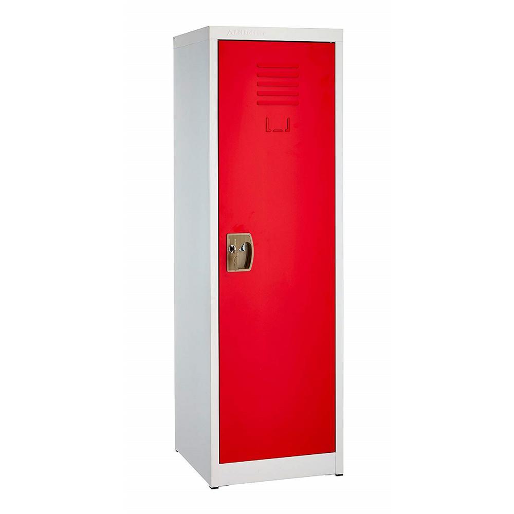 Adiroffice 48 In H X 15 In W Steel Single Tier Locker In Red 629 01 Red The Home Depot