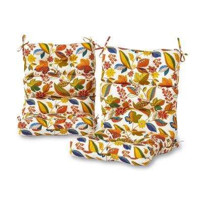 Esprit Floral Outdoor High Back Dining Chair Cushion (2-Pack)