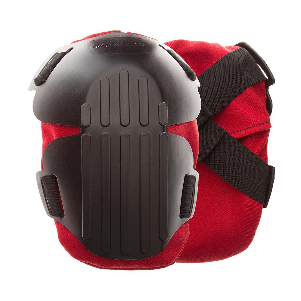 Black/Red Gel Fire Retardant Knee Pads