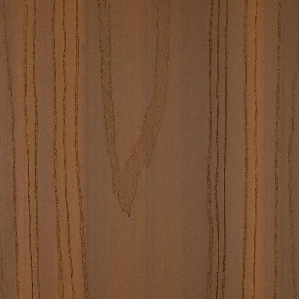 NewTechWood UltraShield Magellan 0.9 in. x 5.5 in. x 0.5 ft. Composite Decking Board Sample in Peruvian Teak with Groove