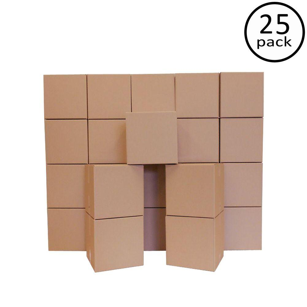 Plain Brown Box 14 in. x 14 in. x 14 in. Moving Box (25-Pack)