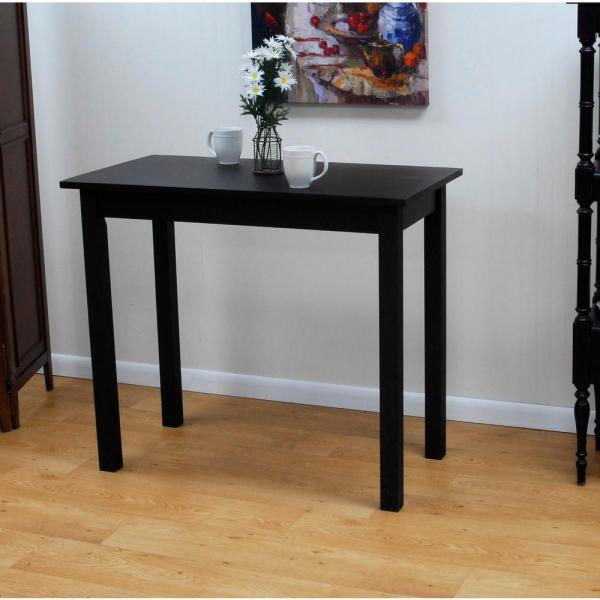 Carolina Cottage Cafe Antique Black Pub/Bar Table 2242-AB