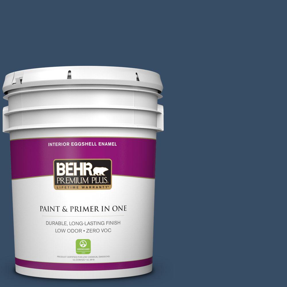 5 gal. #HDC-FL14-12 Rain Boots Zero VOC Eggshell Enamel Interior Paint