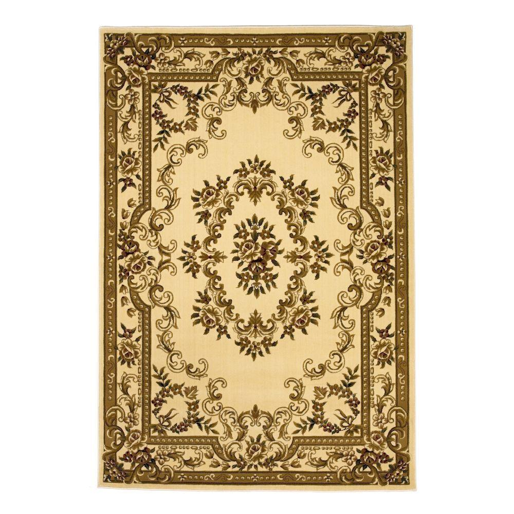 Aubusson Ivory 3 ft. 3 in. x 4 ft. 11 in.