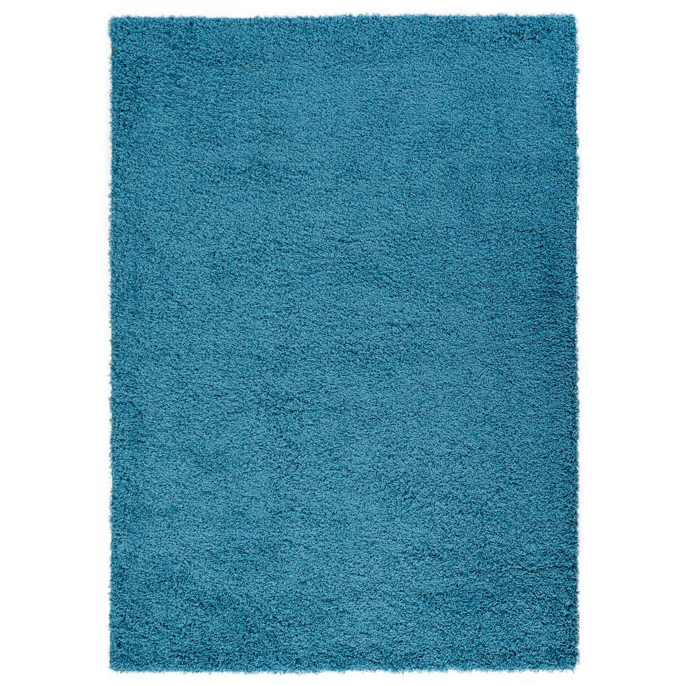 Diagona Designs Era Shag Collection Turquoise 5 Ft. X 7 Ft