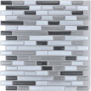 Art3d 12x12 in. Grey Peel & Stick Tile Backsplash (10-Pack) Deals