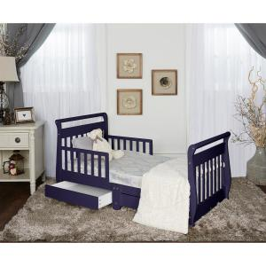 Pleasant Dream On Me Navy Toddler Adjustable Sleigh Bed With Storage Caraccident5 Cool Chair Designs And Ideas Caraccident5Info