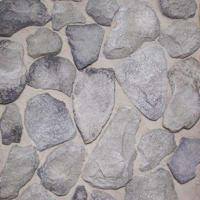 1/2 in. x 10 sq ft. CONCRETE ASSORTED SHADES OF GRAY THIN BRICK STONE VENEER