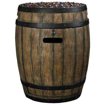 43,500 BTU Whiskey Barrel Propane Gas Patio Heater