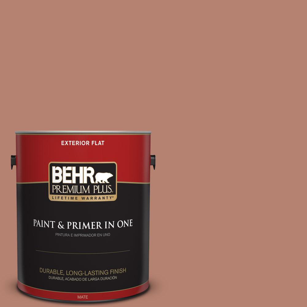 BEHR Premium Plus 1-gal. #S180-5 Auburn Glaze Flat Exterior Paint