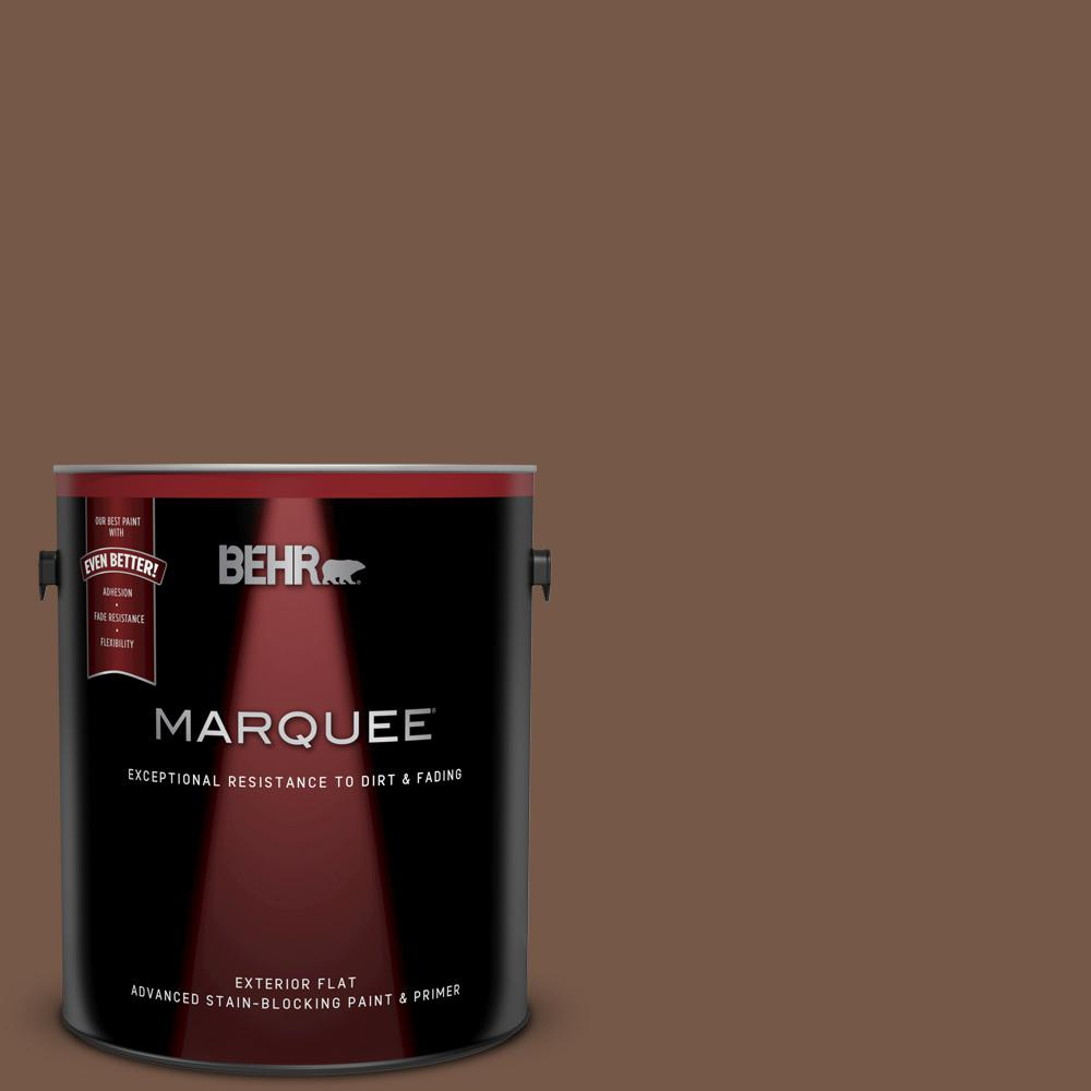 N250 7 Mission Brown Flat Exterior Paint And Primer