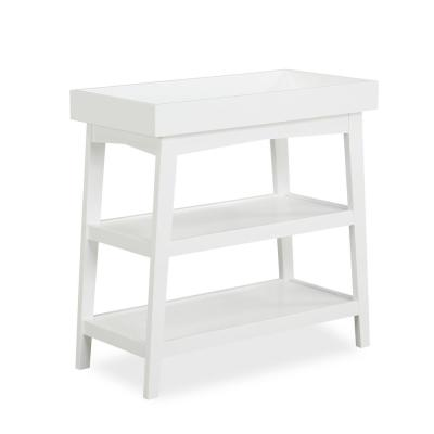 Harper White Wood Baby Open Changing Table