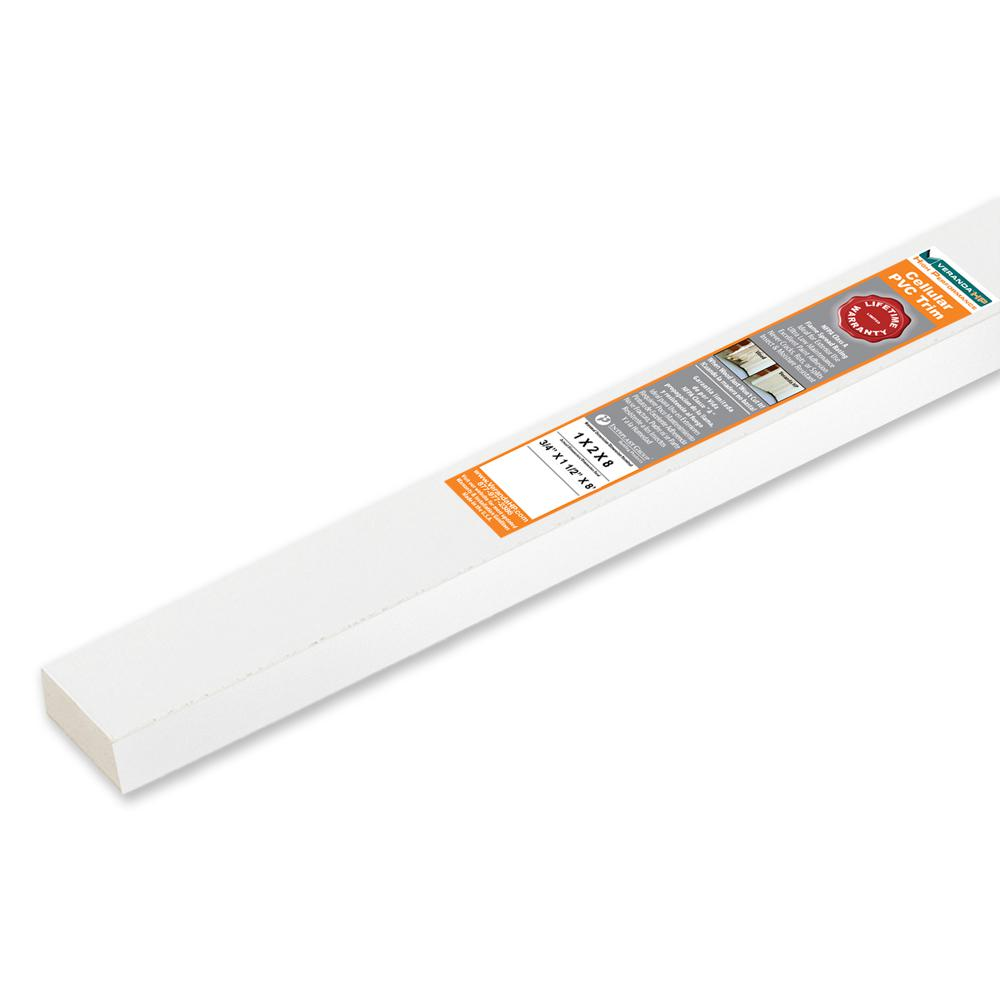 Veranda HP 3/4 in. x 1-1/2 in. x 8 ft. White Cellular PVC Trim