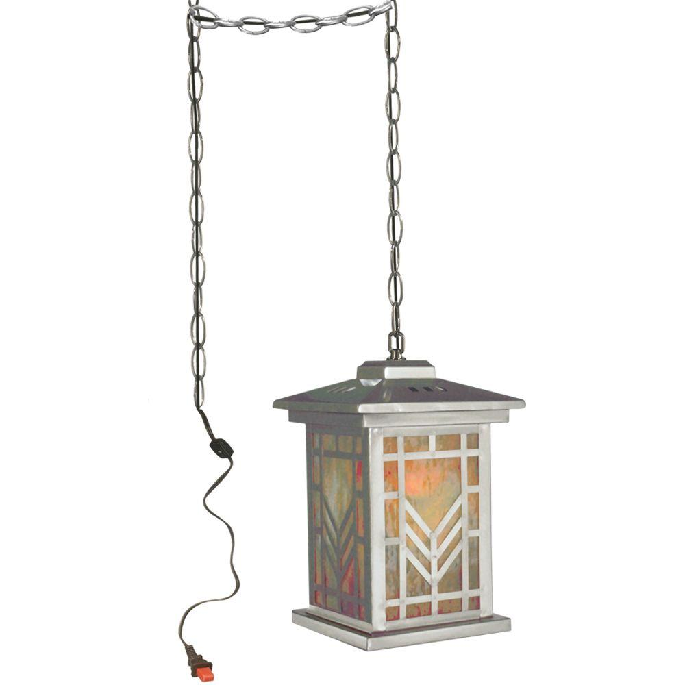 Springdale Lighting Multi Color Imperial 1-Light Antique Brass Hanging Mini Pendant Lamp