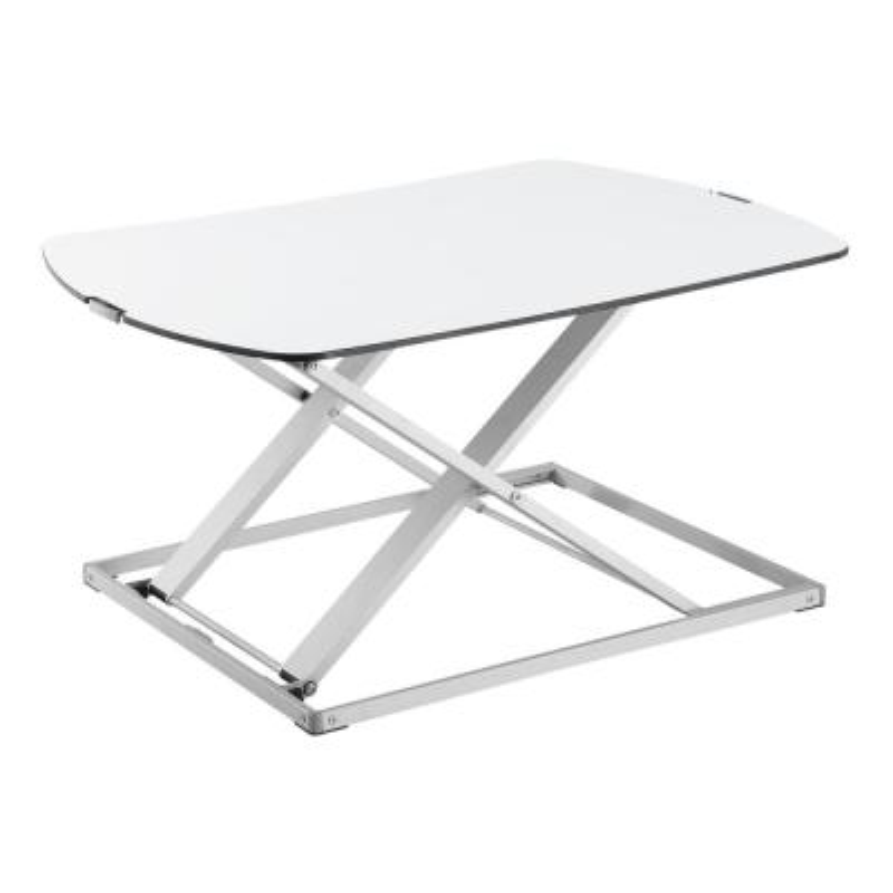 Quick Release Standing Desk Adjustable Riser in White