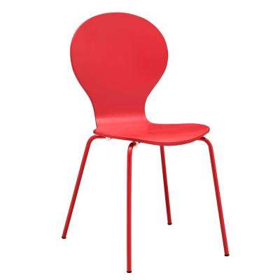 Red Petal Dining Chair