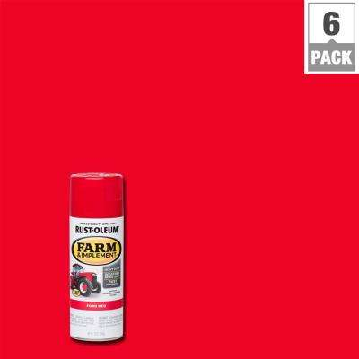 12 oz. Farm and Implement Ford Red Spray Paint (6-Pack)