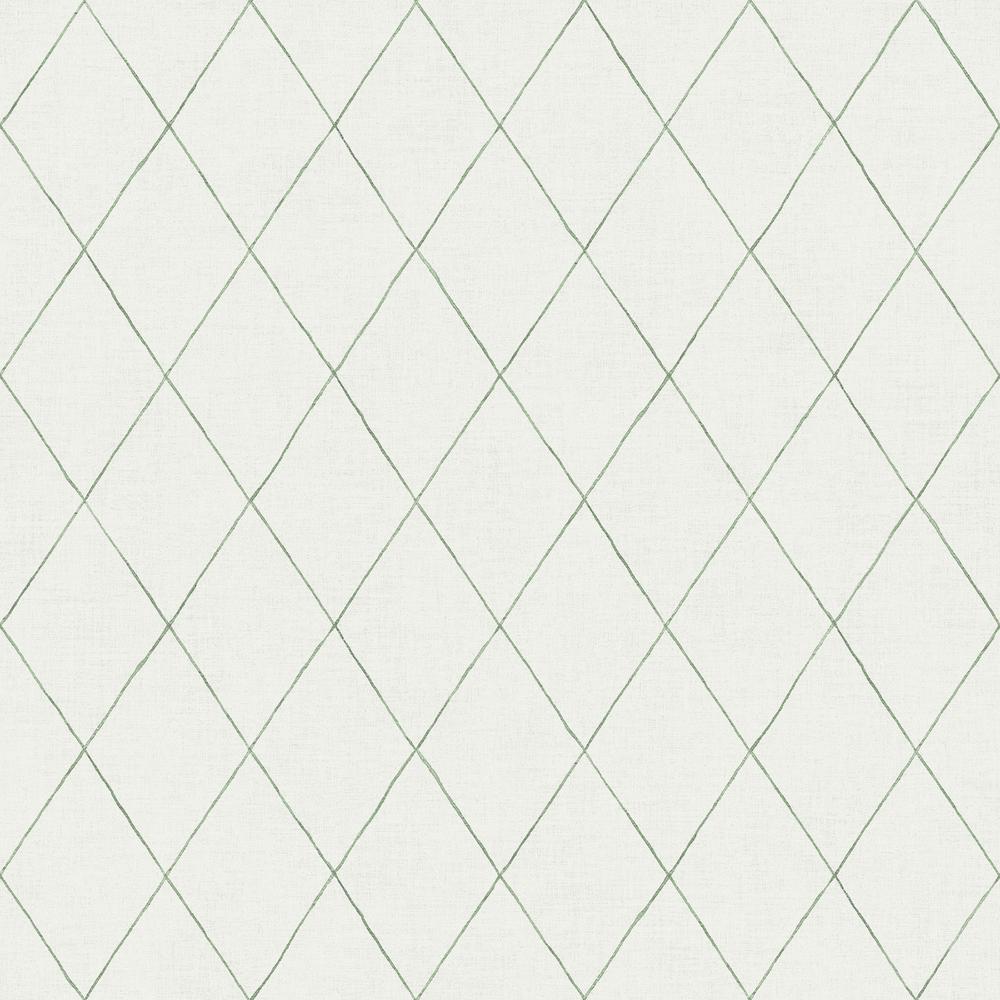 Rhombus Green Geometric Wallpaper