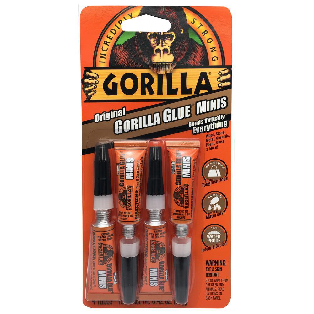 Four 3g Original Glue Mini Tubes (6-Pack)
