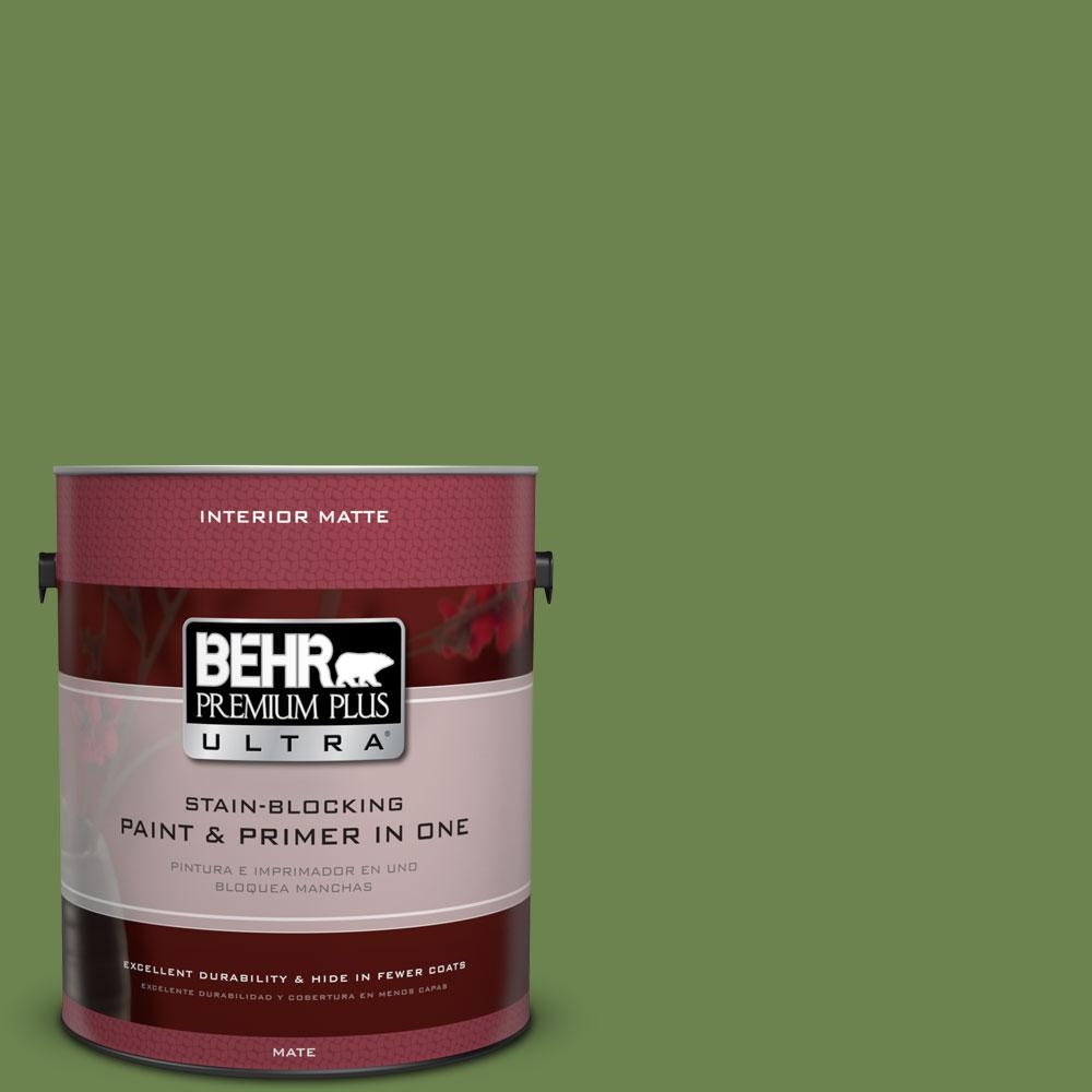BEHR Premium Plus Ultra 1 gal. #430D-6 Happy Camper Flat/Matte Interior Paint
