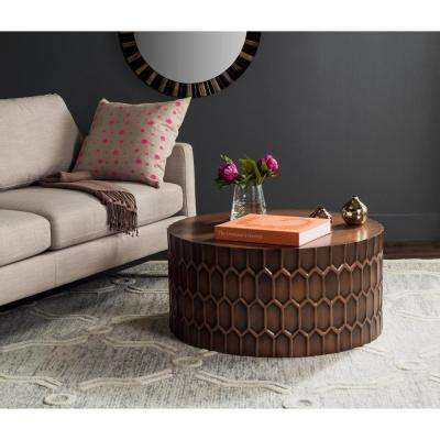 Corey Antique Copper Coffee Table