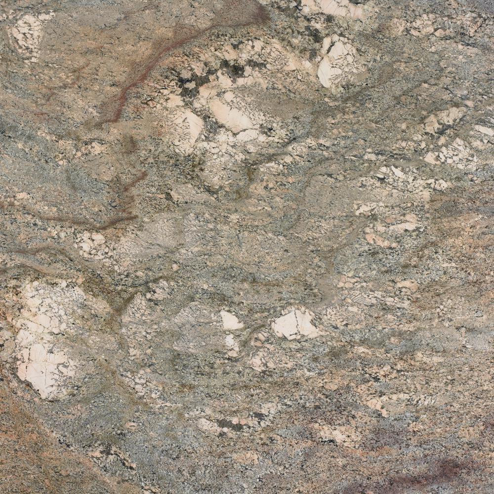 3 in. x 3 in. Granite Countertop Sample in Crema Bordeaux