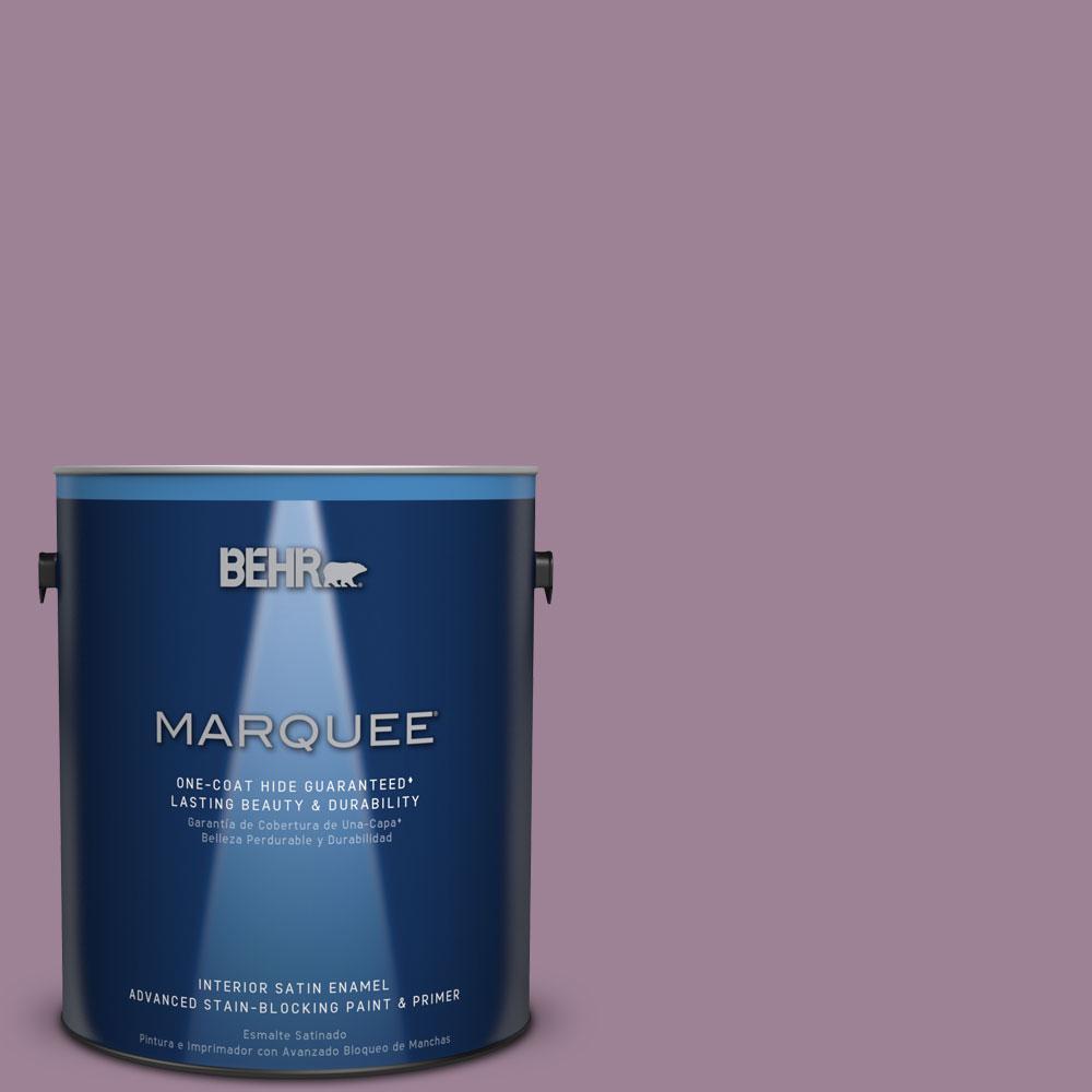 1 gal. #S110-5 Garden Plum One-Coat Hide Satin Enamel Interior Paint