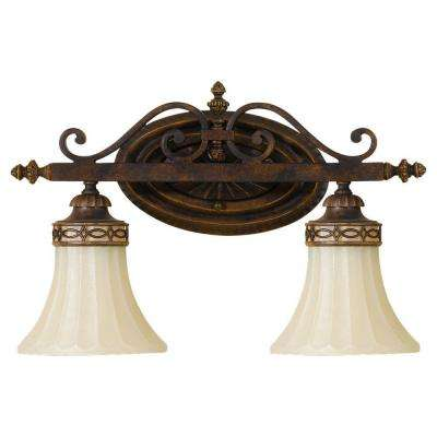 Drawing Room 2-Light Walnut Vanity Light