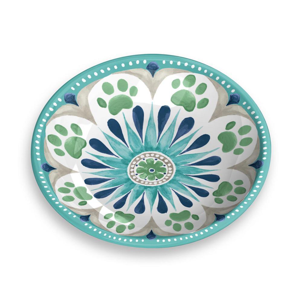 Carmel Medallion Saucer in Turquoise