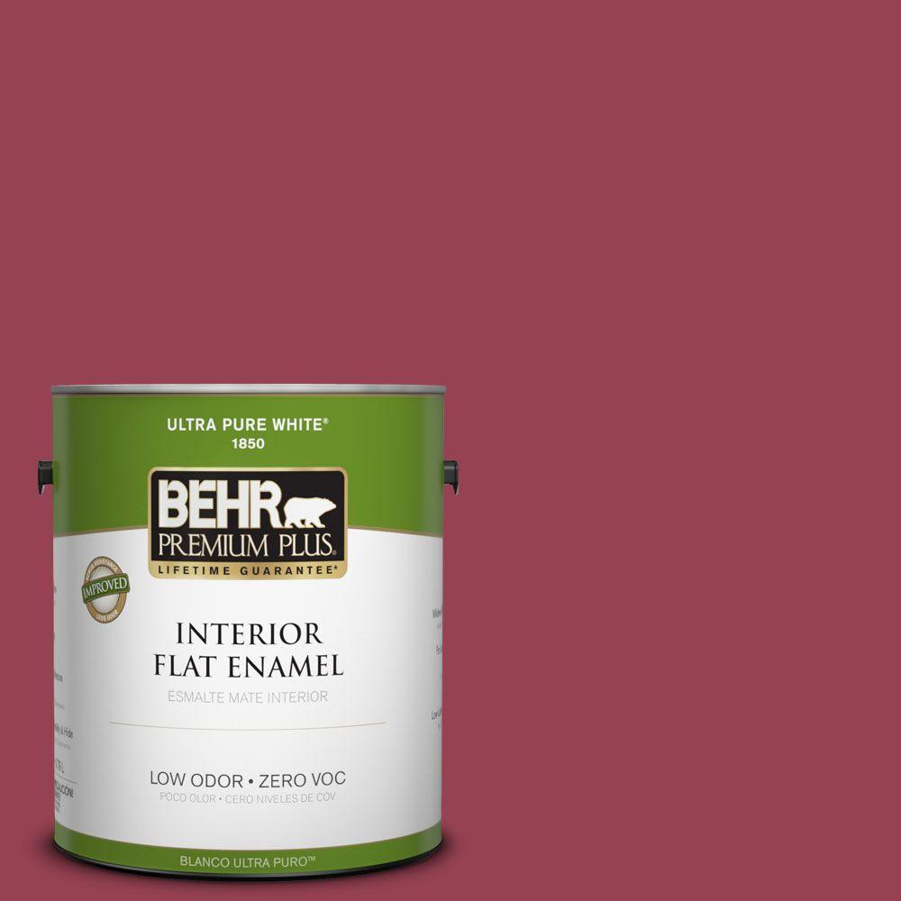 BEHR Premium Plus Home Decorators Collection 1-gal. #HDC-CL-04 French Rose Zero VOC Flat Enamel Interior Paint-DISCONTINUED