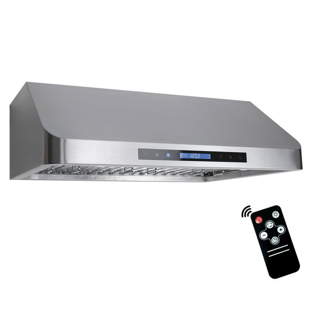 Merveilleux Ducted Under Cabinet Range Hood In Stainless Steel With Touch Display,