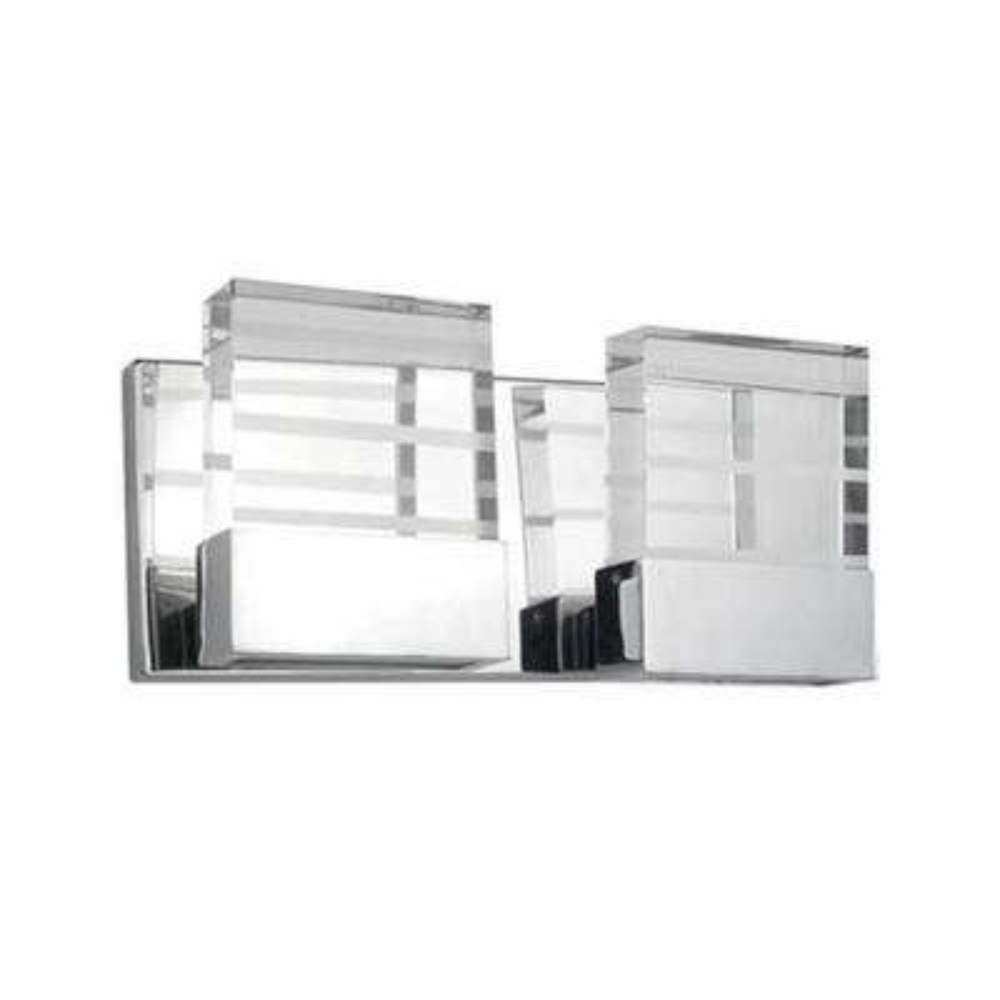 Yellin 2-Light Chrome 40-Watt Equivalence Integrated LED Bath Light