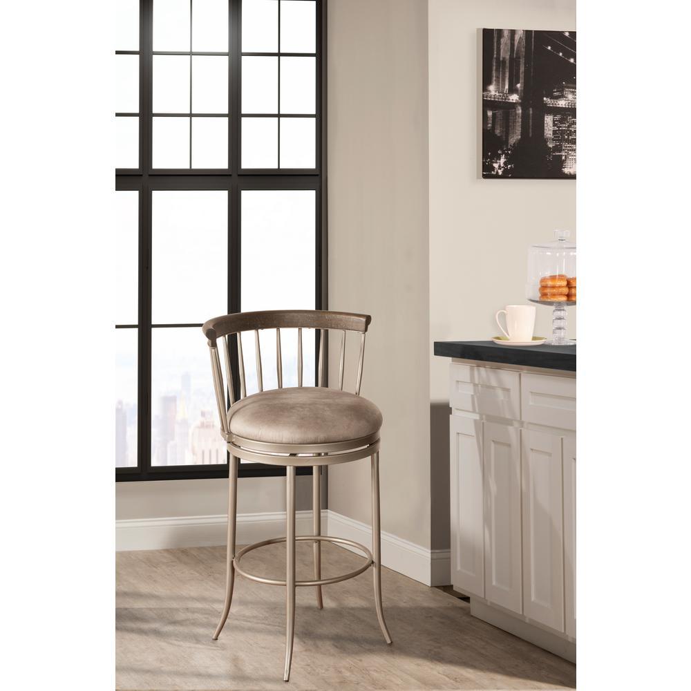 Hillsdale Furniture Sorella White Wire Brushed Non Swivel