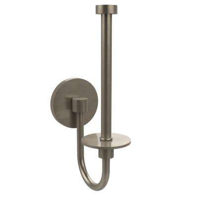 Skyline Collection Upright Single Post Toilet Paper Holder in Antique Pewter