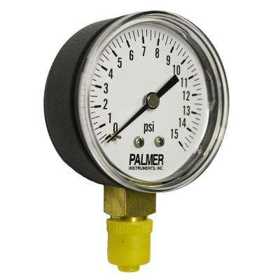 2.5 in. Dial 15 psi Painted Steel Case Utility Gauge
