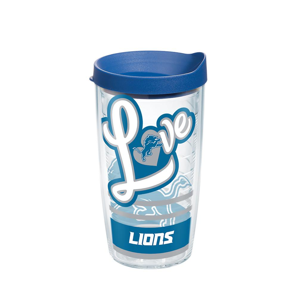 NFL Detroit Lions Love 16 oz. Double Walled Insulated Tumbler with