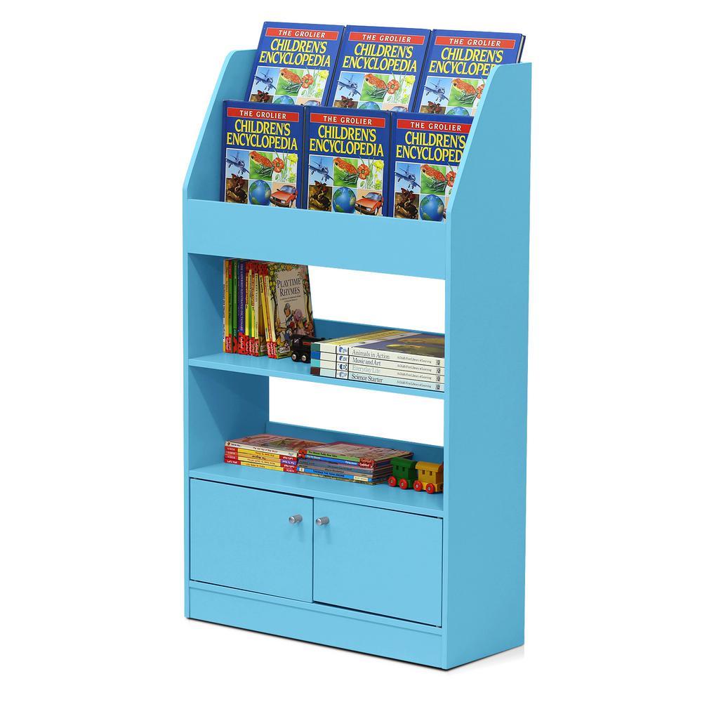 Furinno KidKanac Light Blue Toy Storage Cabinet Bookshelf